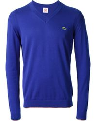 Lacoste L!ive - V-neck Sweater - Lyst