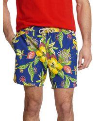 Polo Ralph Lauren Traveler Floral Print Swim Shorts - Lyst
