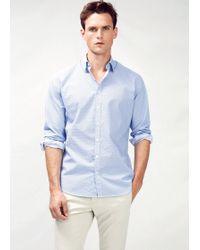Mango Slimfit Printed Shirt - Lyst