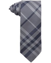 Burberry Grey And Blue Nova Check Silk Tie gray - Lyst
