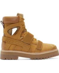 Hood By Air - Camel Cut_out Avalanche Boots - Lyst