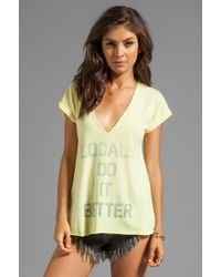 Local Celebrity - Locals Do It Better Logan Tee in Yellow - Lyst