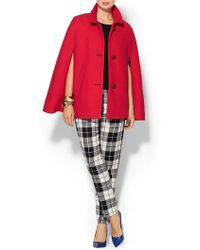 Kate Spade Red Wool Capelette - Lyst