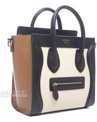 Celine Pre-owned Tricolor Nano Luggage Tote Bag - Lyst