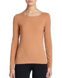 Wolford Pure Long-Sleeve Tee - Lyst