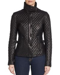 Badgley Mischka Naomi Quilted Leather Jacket - Lyst