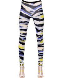 Just Cavalli Tiger Printed Techno Twill Leggings - Lyst
