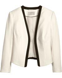 H&M Beige Jersey Jacket - Lyst