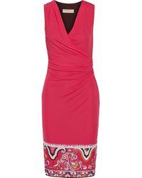 Emilio Pucci Draped Jersey Dress - Lyst