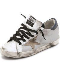 Golden Goose Deluxe Brand Superstar Low Top Sneakers - Silver - Lyst