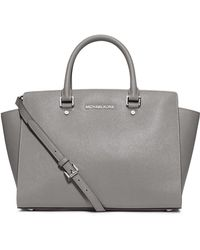 Michael by Michael Kors Selma Leather Large Satchel - Lyst