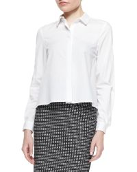 Zac Zac Posen Long-Sleeve Blouse With High-Low Hem - Lyst