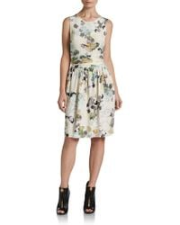 3.1 Phillip Lim Chiffonback Printed Silk Dress - Lyst