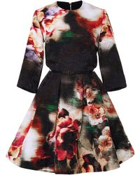Elie Saab Floral Brocade Short Dress - Lyst