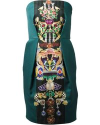 Mary Katrantzou Olympia Fitted Dress - Lyst