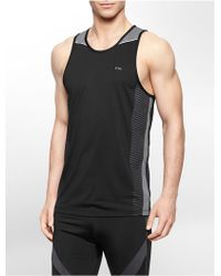 Calvin Klein White Label Performance Colorblock Jersey Tank Top - Lyst