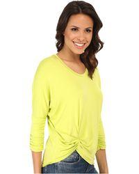 Karen Kane Shirred Sleeve Pick Up Top yellow - Lyst