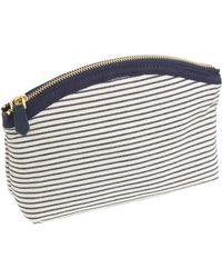 J.Crew Stripe Medium Pouch - Lyst