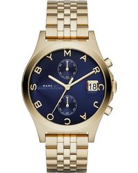 Marc By Marc Jacobs Women'S Slim Chrono Gold-Tone Stainless Steel Bracelet Watch 38Mm Mbm3383 - Lyst