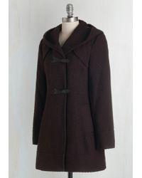 Jessica Simpson - Guten Toggle Coat In Bordeaux - Lyst