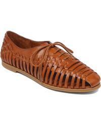 Jessica Simpson Sorbett Leather Woven Flats - Lyst