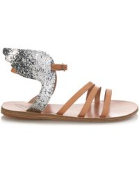 Ancient Greek Sandals Ikaria Winged Leather Sandals brown - Lyst