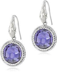 Just Cavalli - Just Queen Silvertone Earrings W/Crystal - Lyst