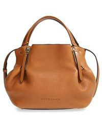 Burberry Women'S 'Small Maidstone' Leather Satchel - Brown - Lyst