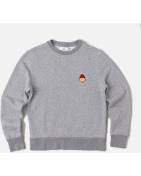 AMI Crewneck Sweatshirt W Smiley Patch - Lyst