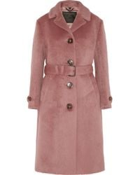 Burberry Prorsum Brushed Wool Coat - Lyst