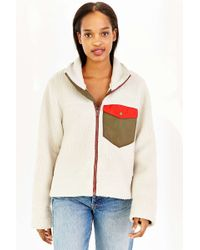 Without Walls - Thermal Shearling Zip-up Jacket - Lyst