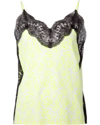 Christopher Kane Lace Trim Camisole Top - Lyst