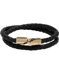 Mulberry Double Wrap Tubular Bracelet black - Lyst