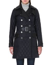Barbour Quilted Waxed-cotton Trench Coat - Lyst