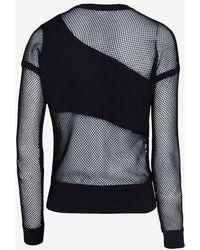 Ohne Titel - Mesh Detail Sweatshirt  - Lyst