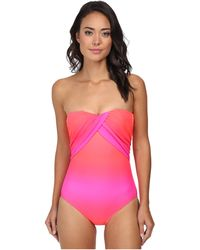 Seafolly Pink Miami Maillot - Lyst
