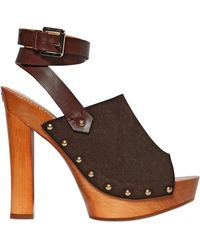 DSquared² 140Mm Suede & Leather Sandals - Lyst