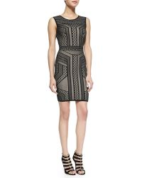 BCBGMAXAZRIA Stefanie Bodycon Sleeveless Dress - Lyst