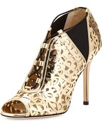 Jimmy Choo Tactic Lace-up Cutout Bootie - Lyst