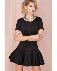Nasty Gal Ride It Out Scuba Dress - Lyst
