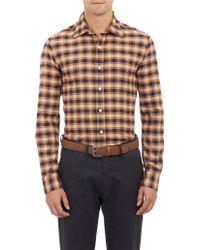 Salvatore Piccolo Plaid Flannel Shirt - Lyst