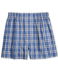 Brooks Brothers Traditional Fit Large Plaid Stripe Boxers - Lyst