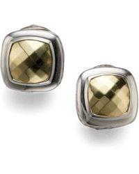 David Yurman Albion Earrings With Gold silver - Lyst