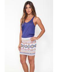 Goddis | Vivian Mini Skirt In Skylark Song | Lyst