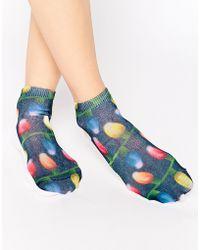 Living Royal - Christmas Lights Socks - Lyst