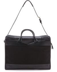 Lotuff Leather - Zipper Canvas & Leather Holdall Travel Bag - Lyst