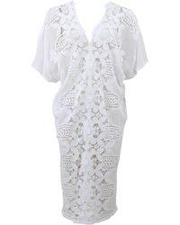 Miguelina Kate Crochet Caftan floral - Lyst