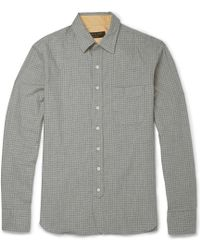 Rag & Bone Checked Cotton Shirt - Lyst