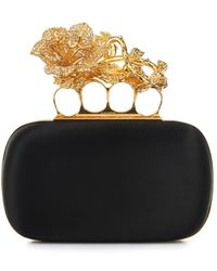 Alexander McQueen Knucklebox Satin Clutch - Lyst