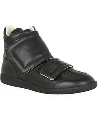 Maison Margiela Double Velcro Leather High Top Sneaker - Lyst